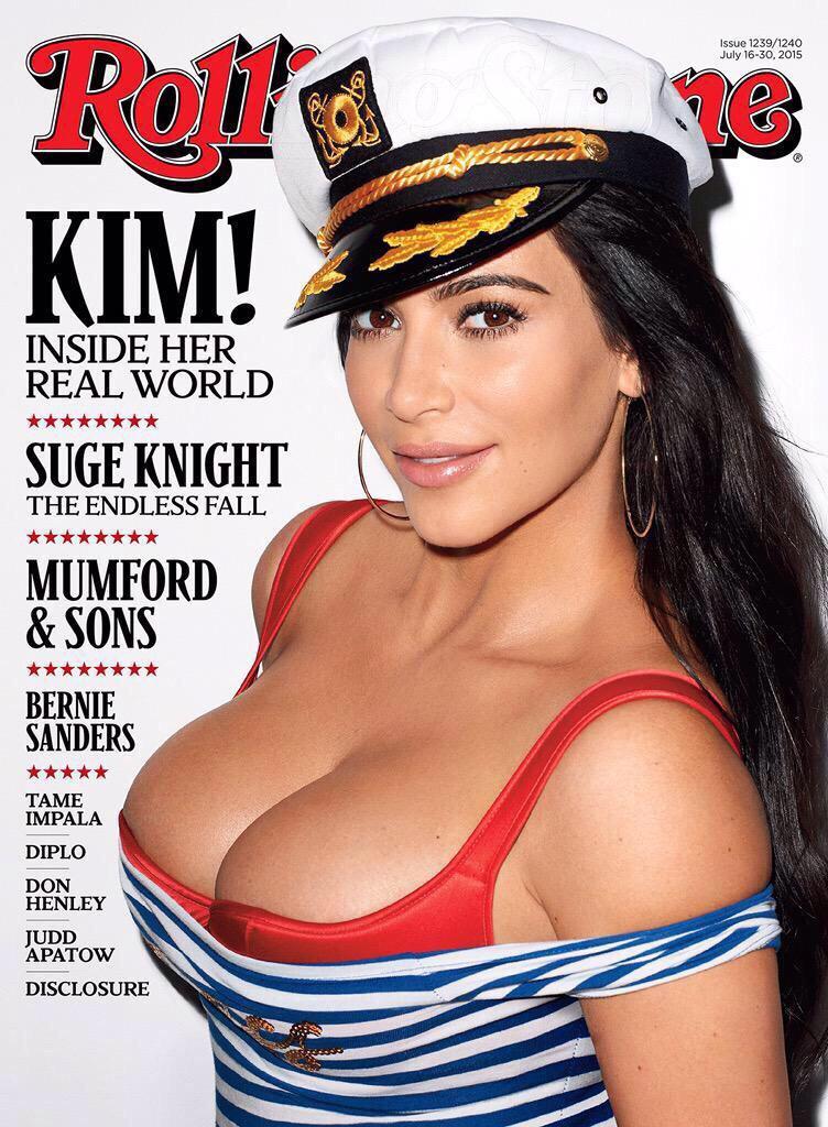Kim Kardashian en la revista Rolling Stone Julio 2015