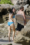 EXCLUSIVE: Jennifer Lawrence wearing a blue two piece bikini while surfing in Hawaii.  Pictured: Jennifer Lawrence Ref: SPL449932  211112   EXCLUSIVE Picture by: Splash News Splash News and Pictures Los Angeles:310-821-2666 New York:212-619-2666 London:870-934-2666 photodesk@splashnews.com