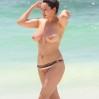 Kelly Brook Topless Big Boobs Bikini Candids On The Beach In Cancun www.GutterUncensored.com 003
